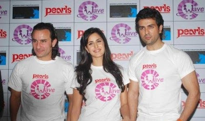 Saif, Katrina and Harman at Waves NGO Press Meet Wallpapers