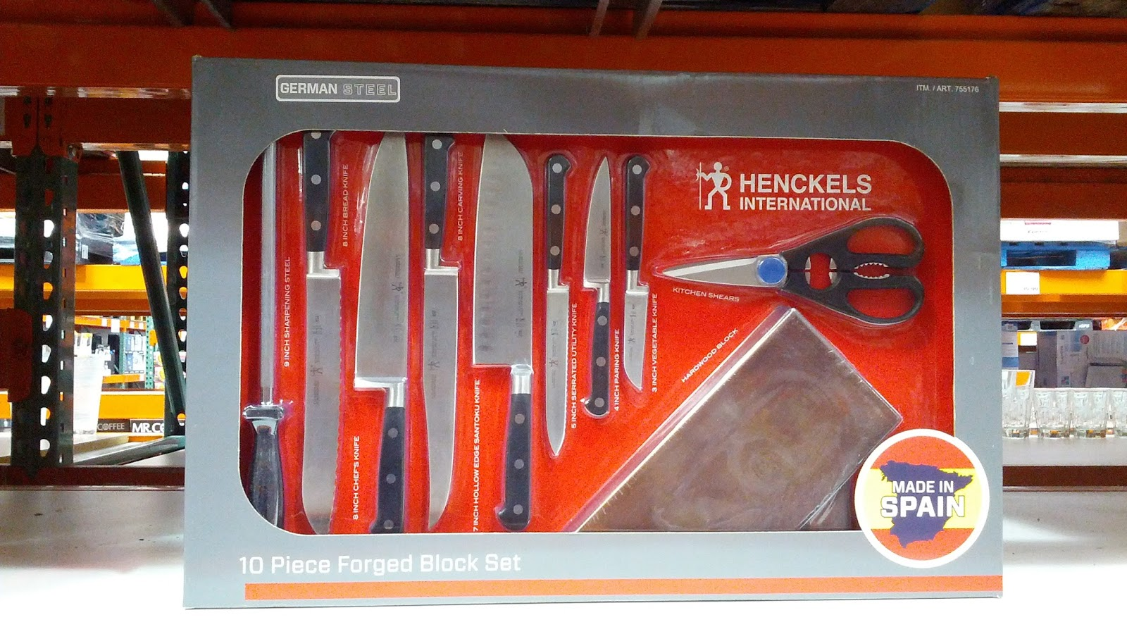 j a henckels 10 piece forged cutlery block set of knives costco j a henckels 10 piece knife set for cooking and food prep