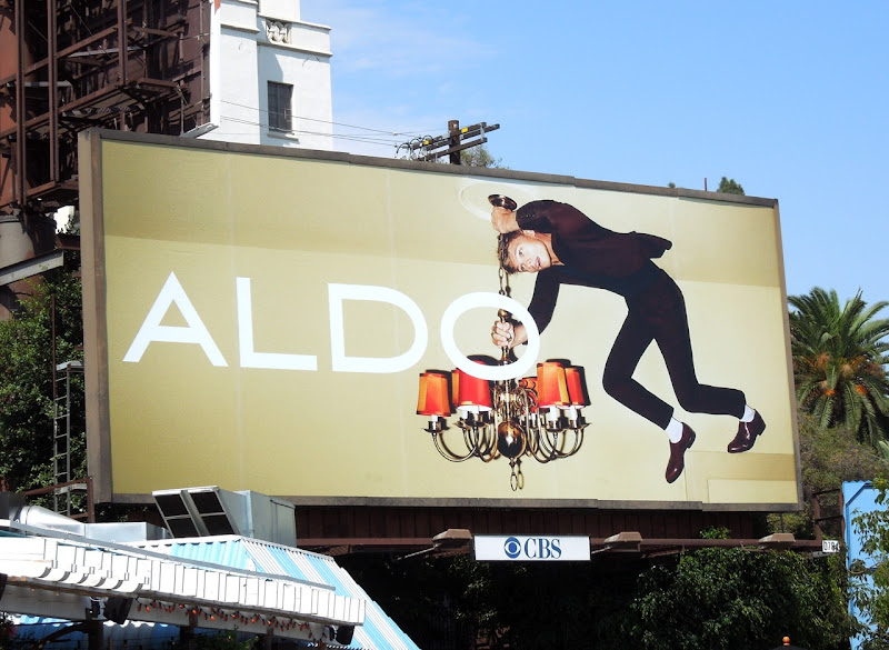 Aldo Shoes ceiling billboard