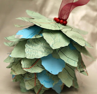 Pinecone Map Ornament - Turtles and Tails blog