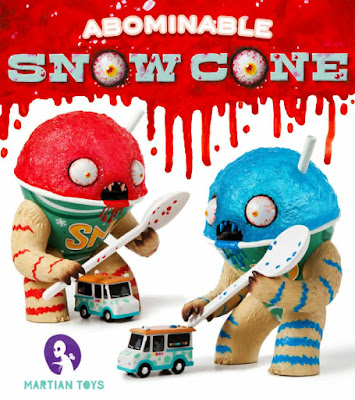 New York Comic Con 2015 Exclusive Blueberry Flavor Abominable Snowcone Vinyl Figure by Jason Limon
