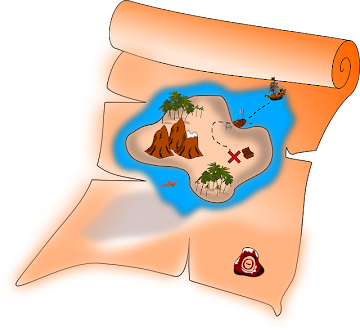 Treasure Map X Sign