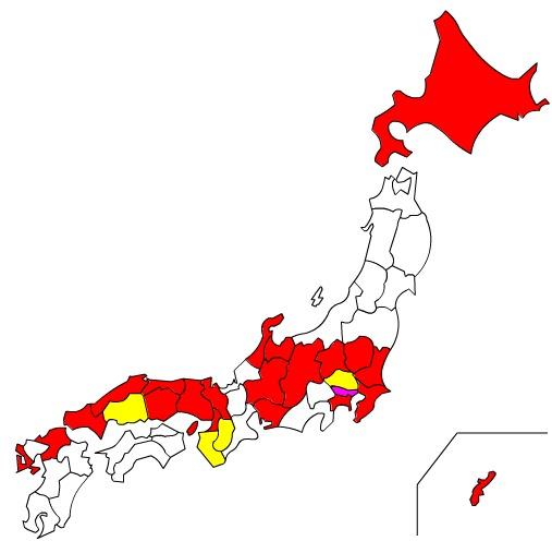 跑日本.経県値&経県マップ