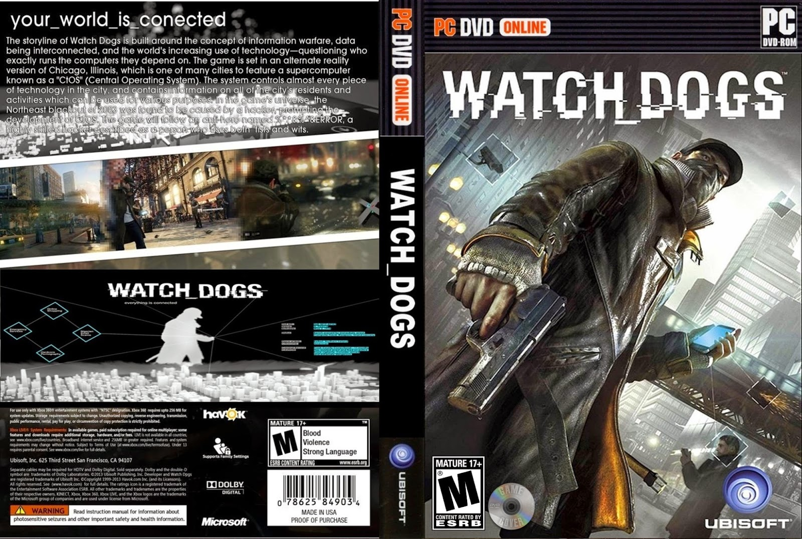 Watch Dogs pc capa