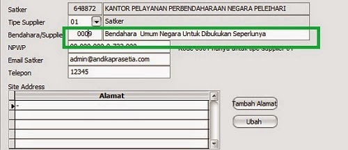 rekam supplier spp