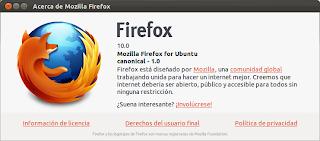 Firefox 10 en los repositorios de  Ubuntu