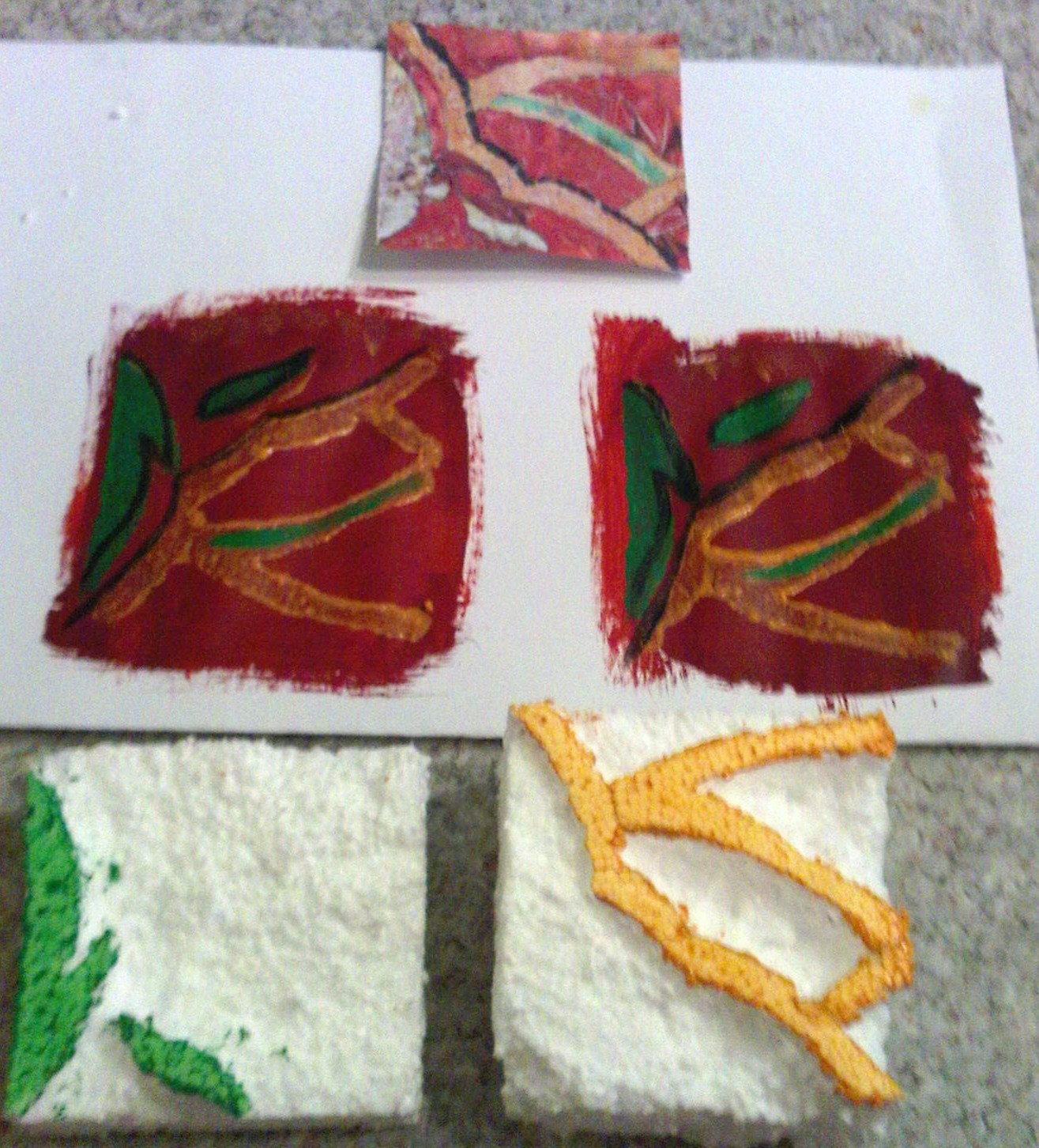 recycle4real: 27th project completed - Polystyrene printing blocks on