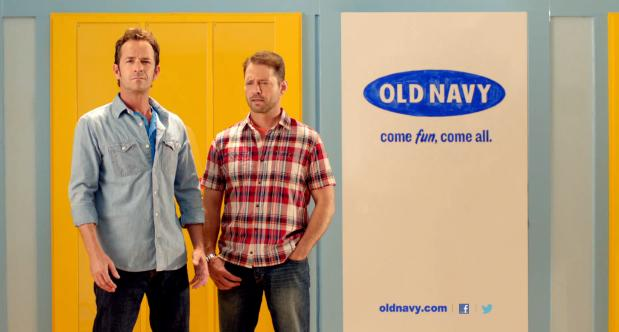 More 90210 Old Navy Ads with Luke Perry Jennie Garth and Priestly ...