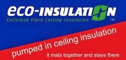 Pumped in ceiling insulation