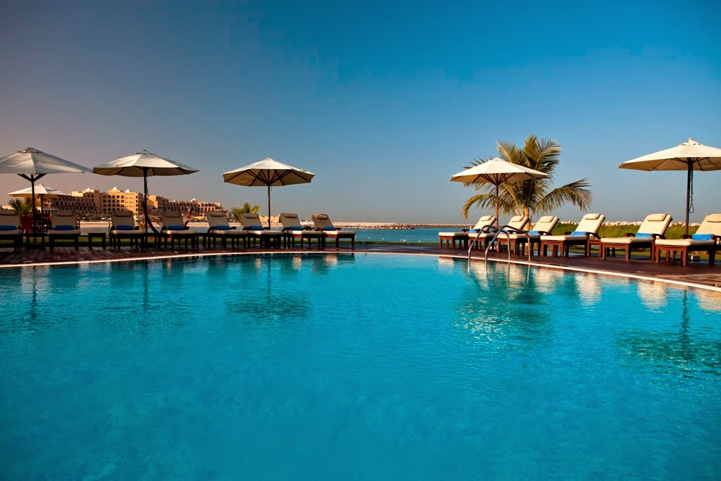 Hilton Ras Al Khaimah Resort & Spa has seven (that's right, SEVEN!) swimming pools