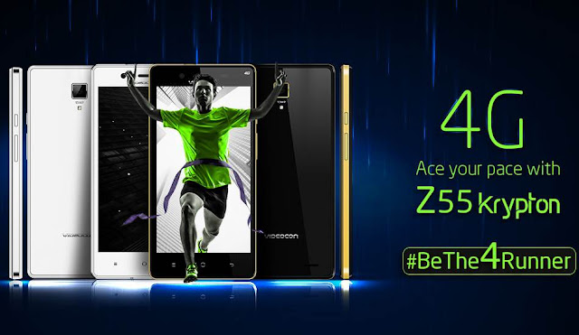 Videocon Launched Z55 Krypton Smartphone @ Rs.7999/- in India