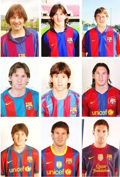 Messi completó 12 años con el Barcelona