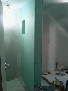 cloison placo niche salle de bain zen spots encastrés