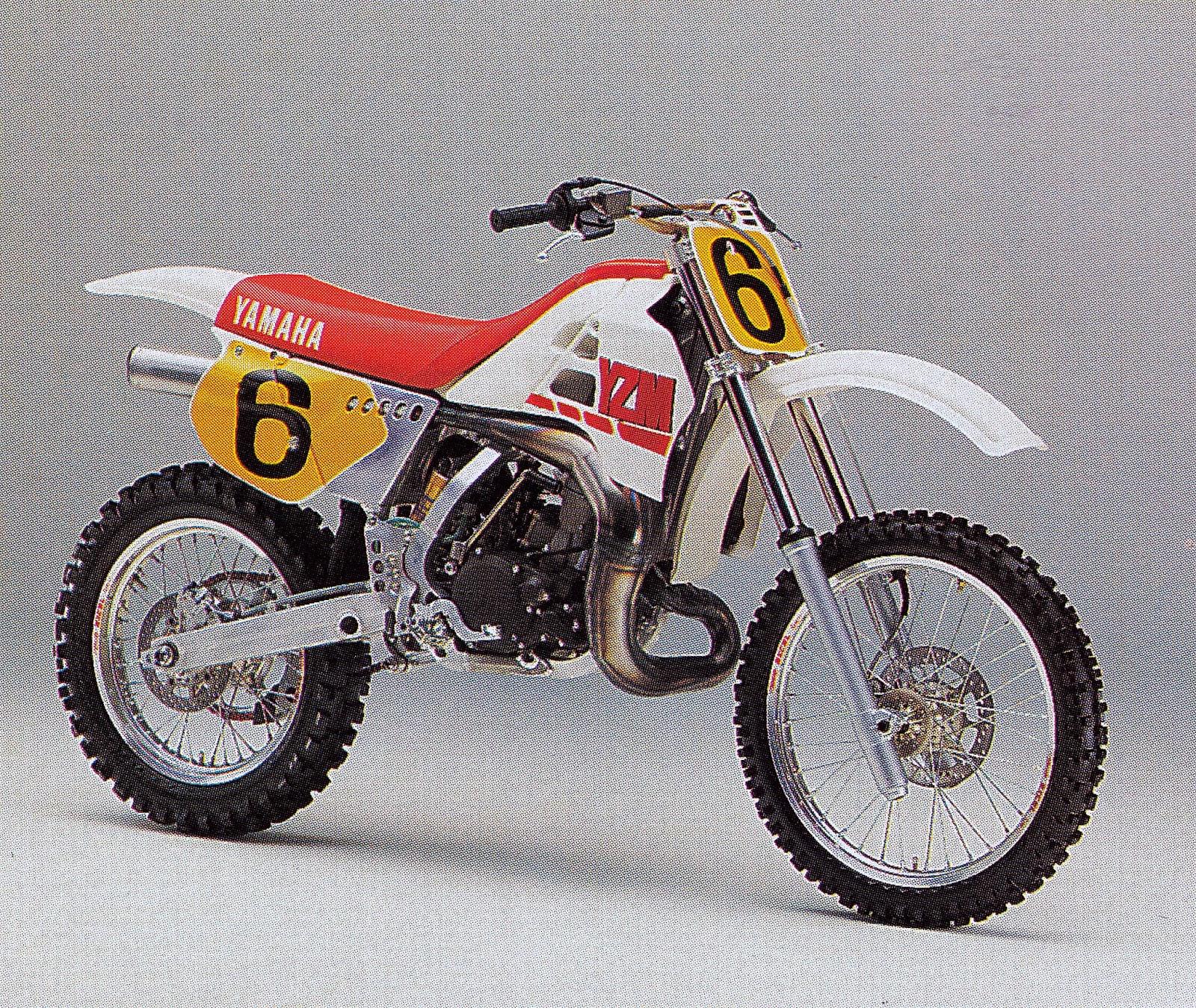 Daily moto 1987 factory yamaha yzm500 for 1987 yamaha moto 4