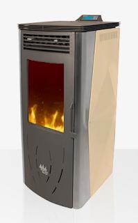 Estufa de aire vigo diamante ecoforest madera de - Estufas de pellets fabricadas en espana ...
