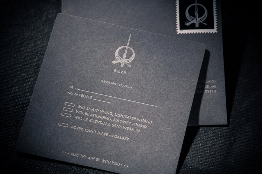 Star Wars Wedding Invitation Card That Will Go Down In History