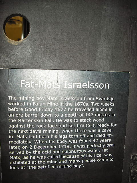 Story behind the petrified mining boy at the Falun Mines, Falun Sweden