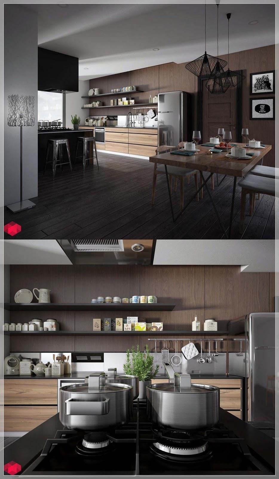 25 Hvit og Tre Kjøkken Ideer - interiør inspirasjon