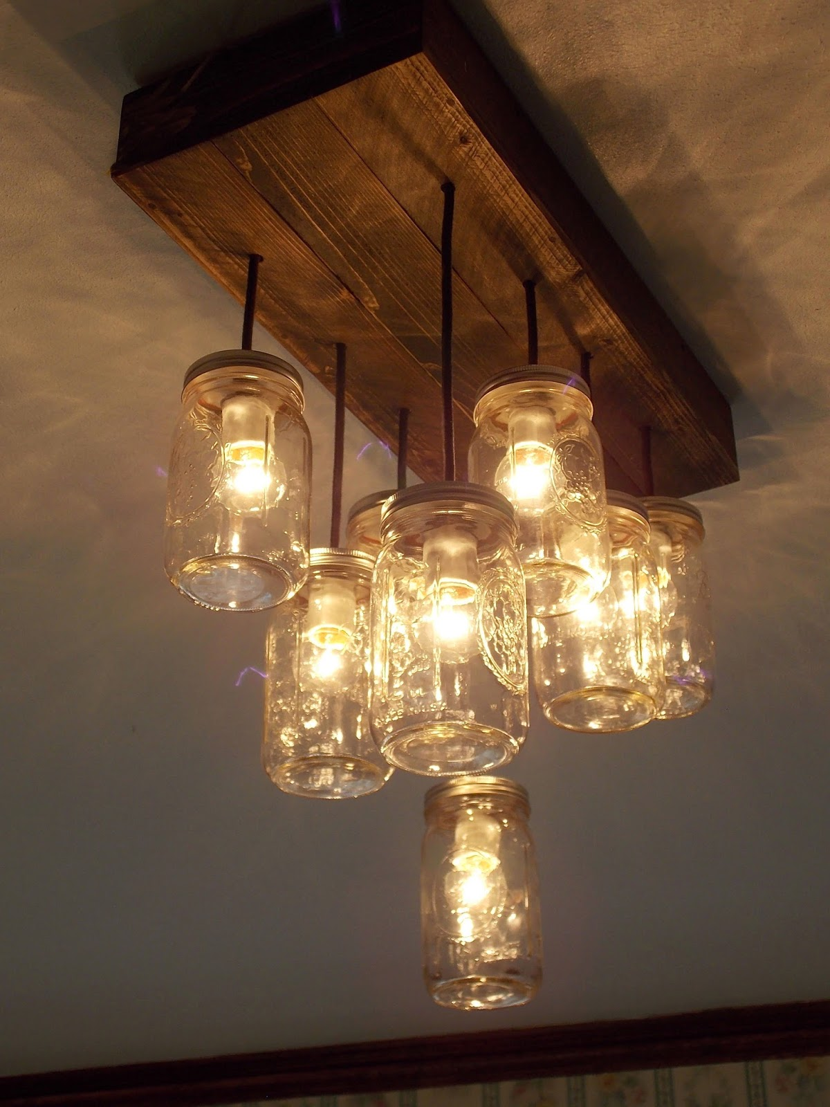 Rubbishlove mason jar chandelier - Can light chandelier ...