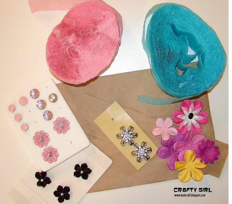 Show me sunday a tutorial by barb frosted designs you will need either a paper bag or crepe paper for the base and then you can use other flowers brads and any other item mightylinksfo Gallery