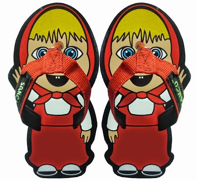 Motif Sandal Sancu masha and the bear