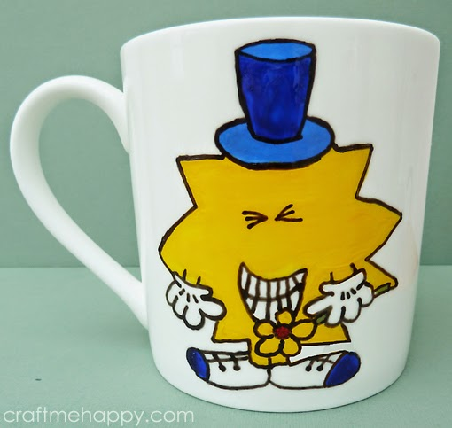 make your own unofficial mr man mug or the big pinterest sharpie