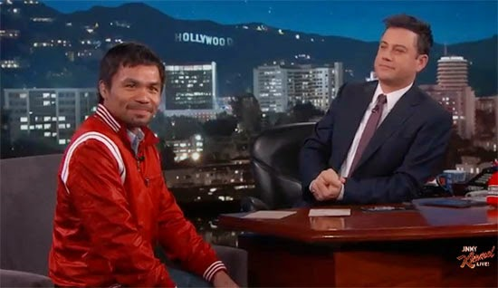 Jimmy Kimmel request to Manny Pacquiao before Floyd Mayweather fight on May 2