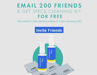 Lenskart Refer and Earn - Invite your 200 gmail friends and get Specs Cleaning kit for free