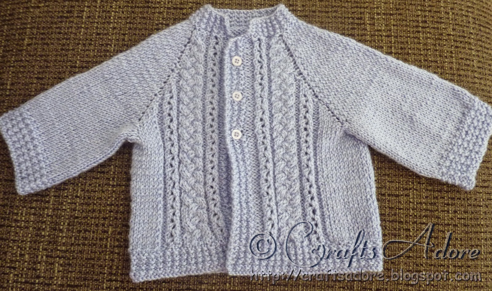 Free Knitting Pattern Baby Cable Cardigan : CraftsAdore: