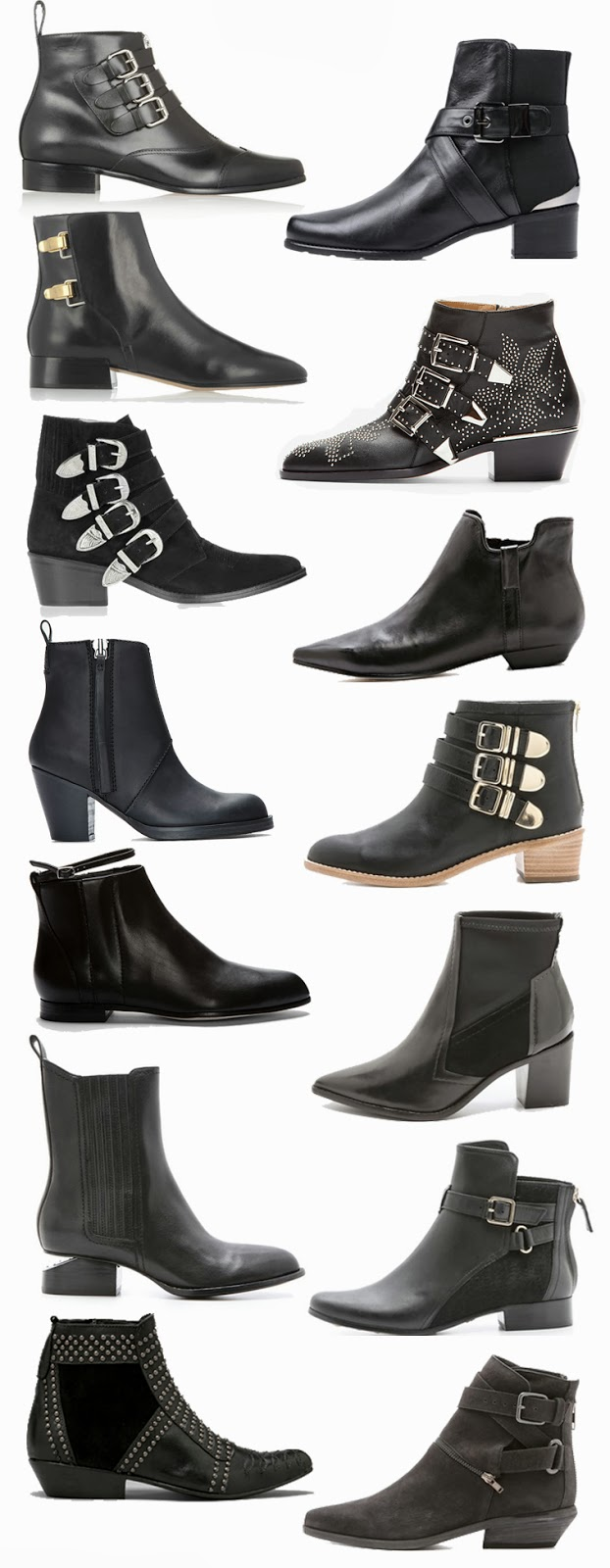 Fall black ankle boots wish list