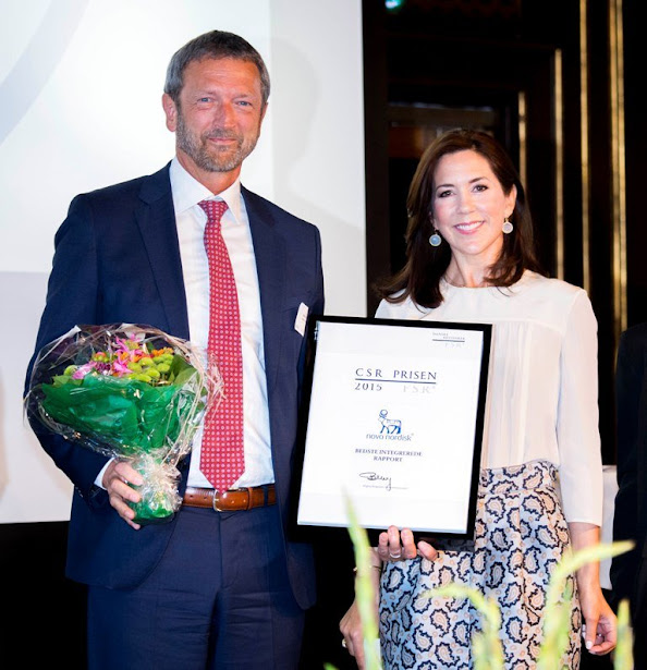 Crown Princess Mary of Denmark attended the award ceremony of the CSR Priser for social responsible entrepreneurship