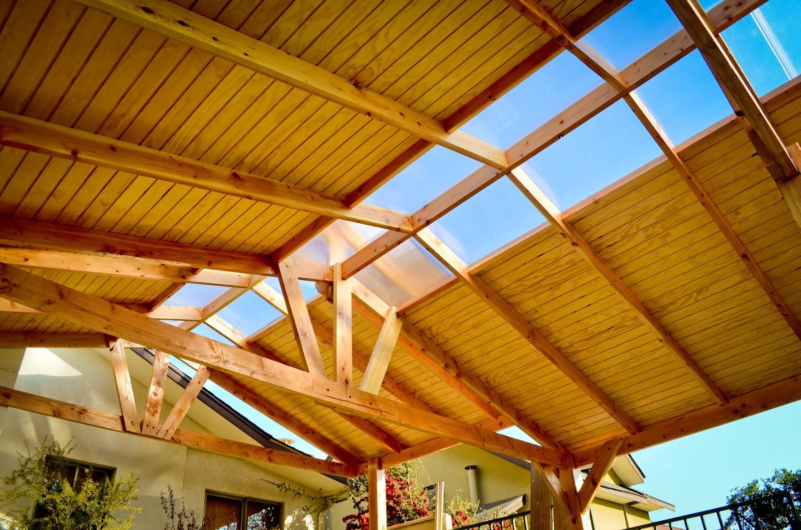 Cobertizo pino oreg n policarbonato teja asf ltica for Cobertizo de madera tratada