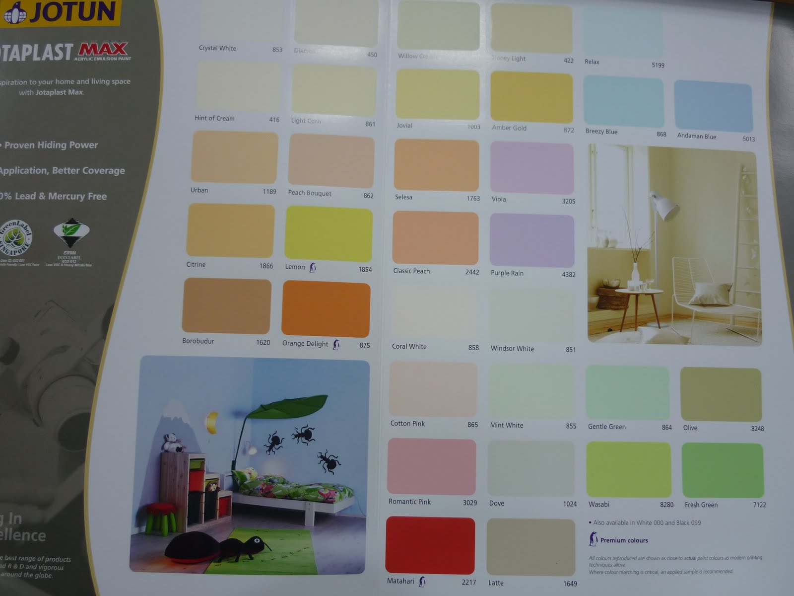 Jotun Paint Color Chart