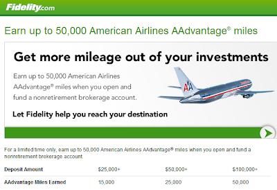 American Airlines Fidelity promotional offer