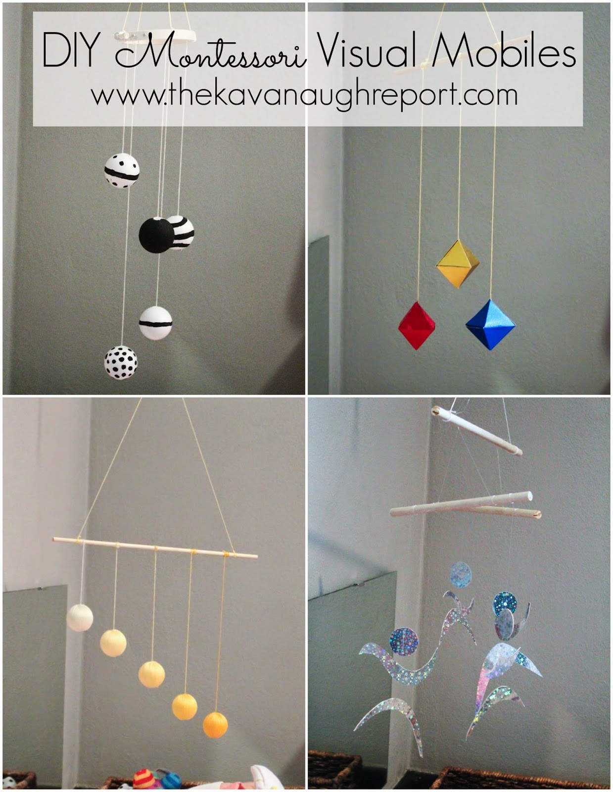 montessori infant mobiles visual series