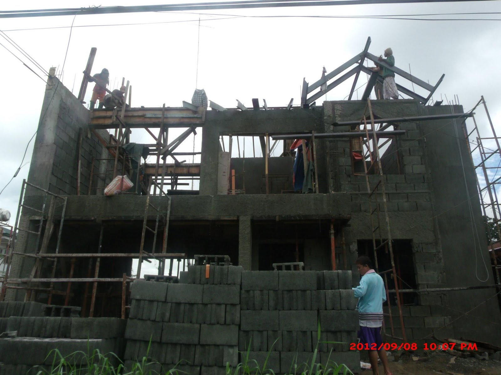 Alta tierra village house construction project in jaro for Cost of building a house in philippines