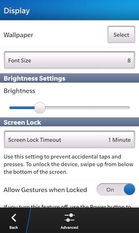 Cambiar el fondo de pantalla en tu dispositivo BlackBerry 10 es una de las primeras cosas que querrás hacer, Es muy facil aquí te dejamos una guía que nos llega por parte de los amigos de CrackBerry donde nos muestran como hacerlo, Estos dispositivos ya traen muchos wallpapers incluidos en su Sistema Operativo igualmente puedes colocar el de tu preferencia. Cómo cambiar el fondo de pantalla en tu dispositivo BlackBerry 10 En las opciones de visualización Hay varias maneras diferentes en que se puede cambiar el fondo de pantalla tu BlackBerry 10. La más fácil es desde la pantalla de
