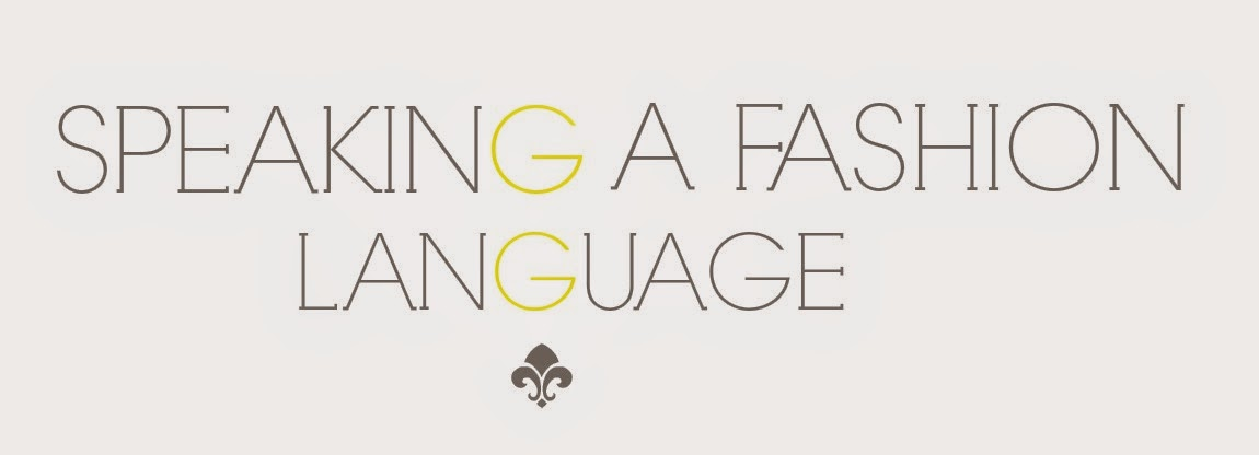 Speaking a fashion language