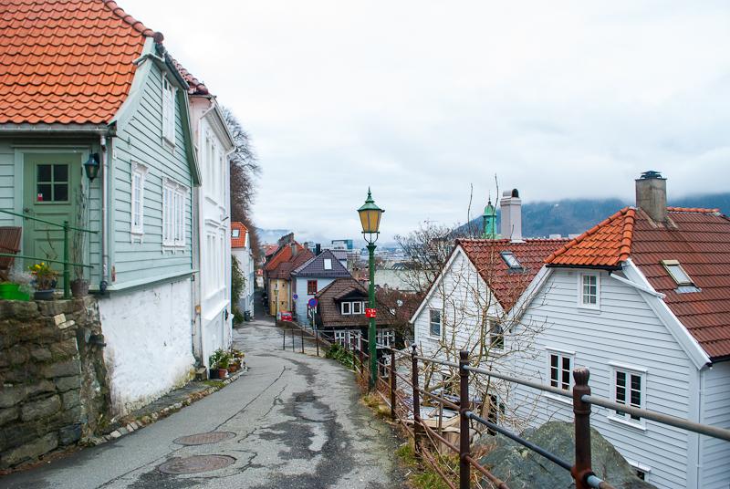 Image of the back alleys of bergen