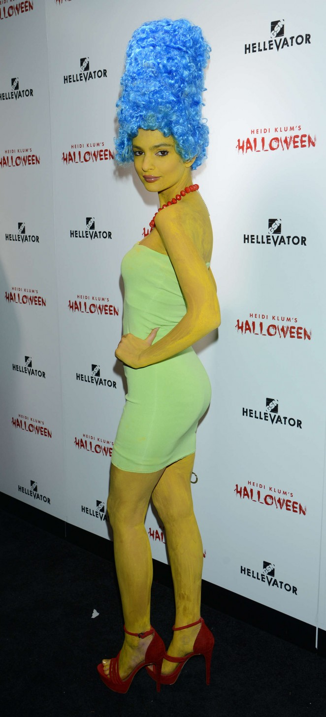 Emily Ratajkowski is a sizzling Marge Simpson for Halloween Bash