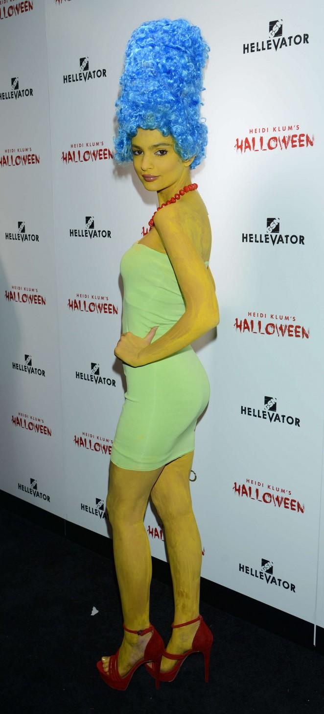 Emily Ratajkowski is a sizzling Marge Simpson for Halloween Bash