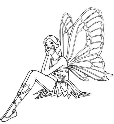 Fairy Coloring Pages on Give Your Little Girls Magical Fairy Coloring Pages