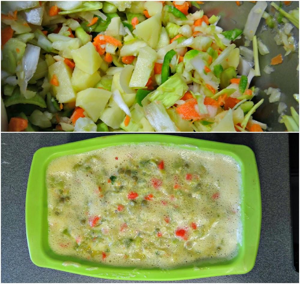 Pastel de verduras (preparación)