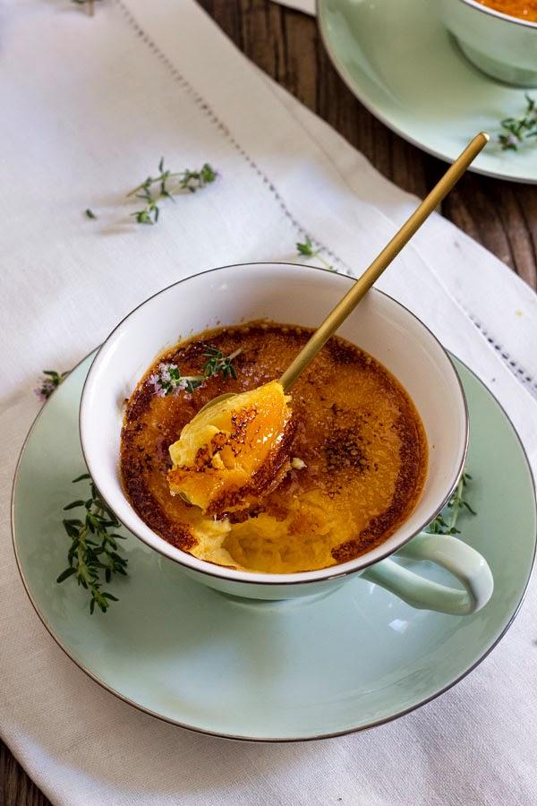 Crema tostada de miel de brezo y tomillo
