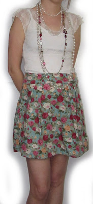 skirt, turquoise, lace, white, rose, flower, pearls, necklace,charms