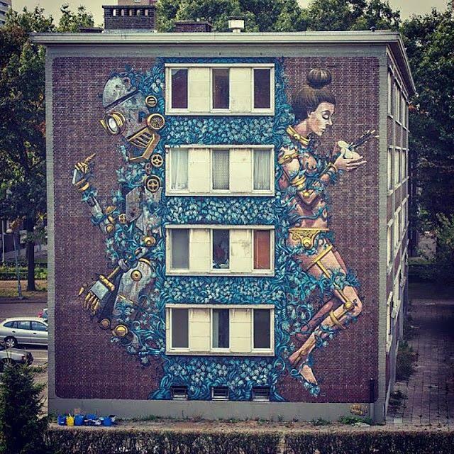 Street Art By Pixel Pancho For Day On Urban Art Festival In Antwerp, Belgium. 1