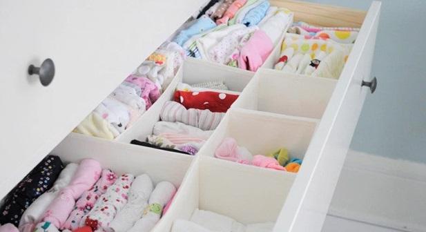 Cajonera donde se puede guardar mucha ropa del bebé