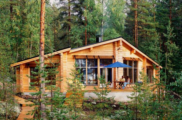 Planos Casas de Madera Prefabricadas: Cabau00f1a de Madera Para Bosque