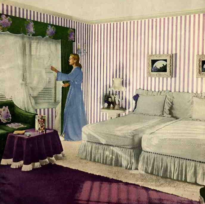 Funnily Enough We Talked About This Colour Combination Before I Came Across  These Pictures Of 1940u0027s Rooms: