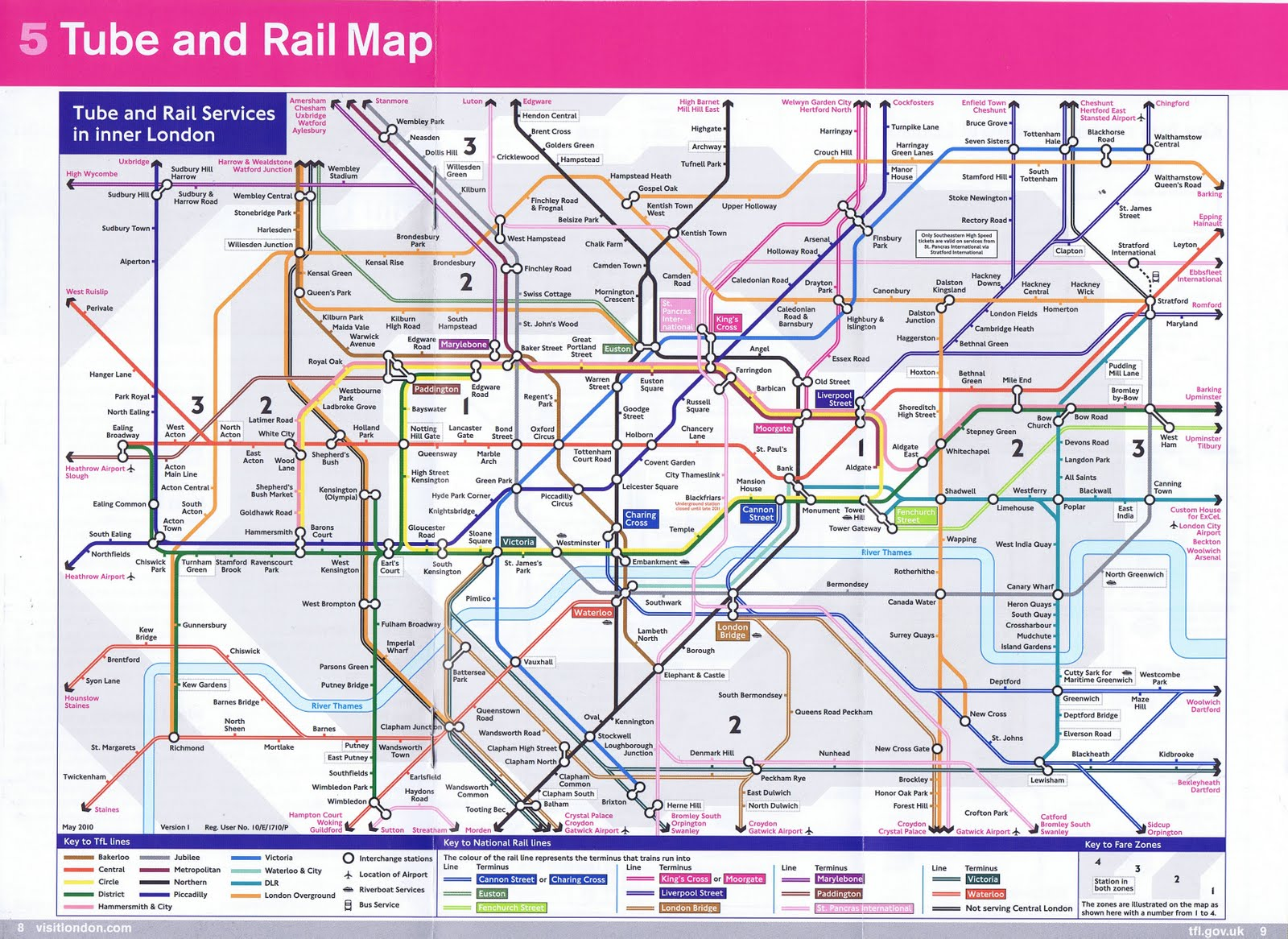 Интерактивная схема лондонского метро